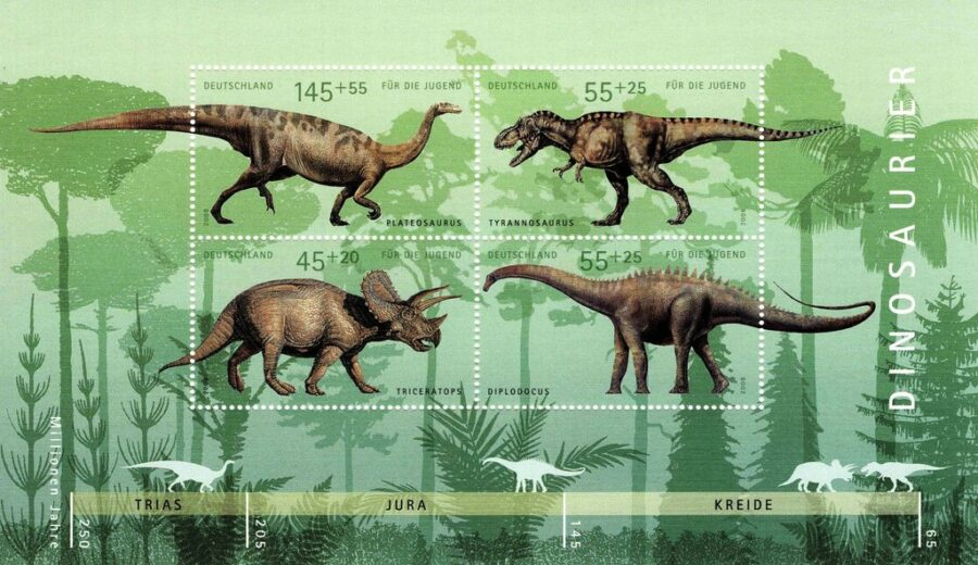 Germany dinosaurs stamps