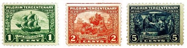 USA Thanksgiving stamps 1920