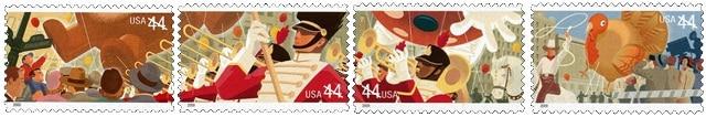 USA Thanksgiving stamps 2009