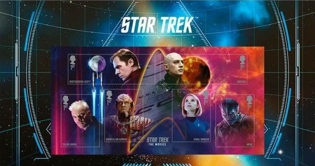 Star Trek stamps UK Royal Mail