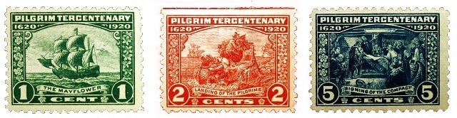 USA Thanksgiving stamps 1920