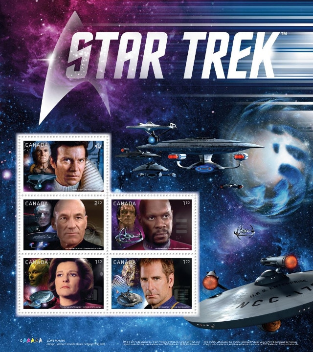 Star Trek stamps Canada