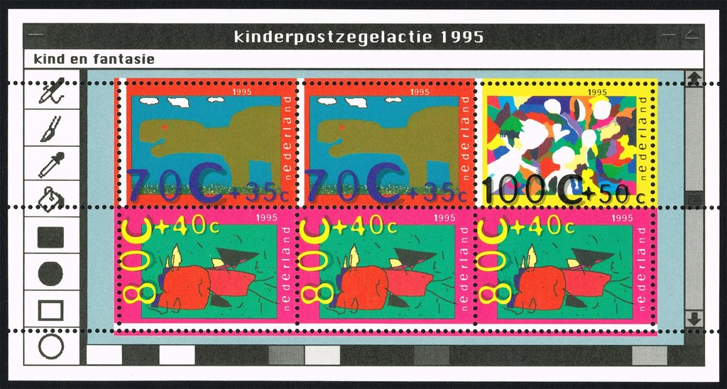 The Netherlands dinosaurs stamps
