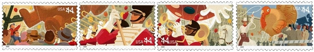 USA Thanksgiving stamps 2009