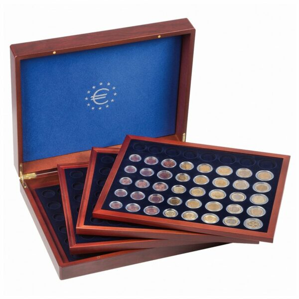 Leuchtturm VOLTERRA QUATTRO for 24 euro coin sets in round capsules