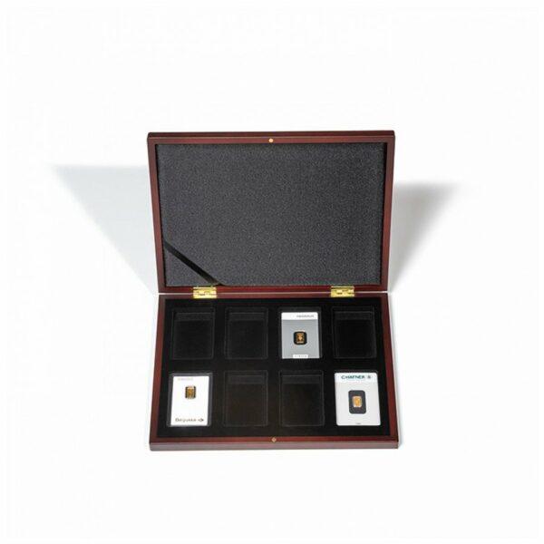 Leuchtturm VOLTERRA UNO presentation case for 8 gold bars in blister packaging