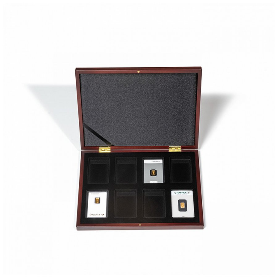 Leuchtturm VOLTERRA UNO presentation case for 8 gold bars in blister packaging
