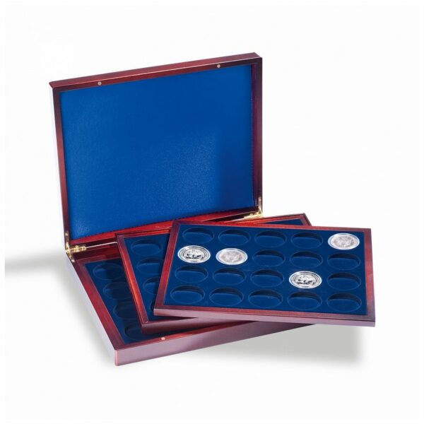 Leuchtturm VOLTERRA TRIO presentation cases for 60 silver bullion coins in capsules
