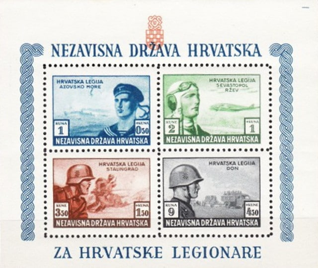Charity for the Croatian Legion stamps