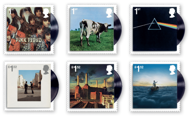 Pink Floyd UK Royal Mail stamps