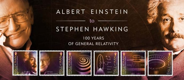 Isle of Man Post – 100 Years of General Relativity stamps