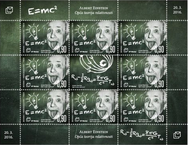 Bosnia and Herzegovina Post – Theory of General Relativity stamps