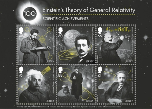 Jersey Post – Einstein's Theory of General Relativity stamps