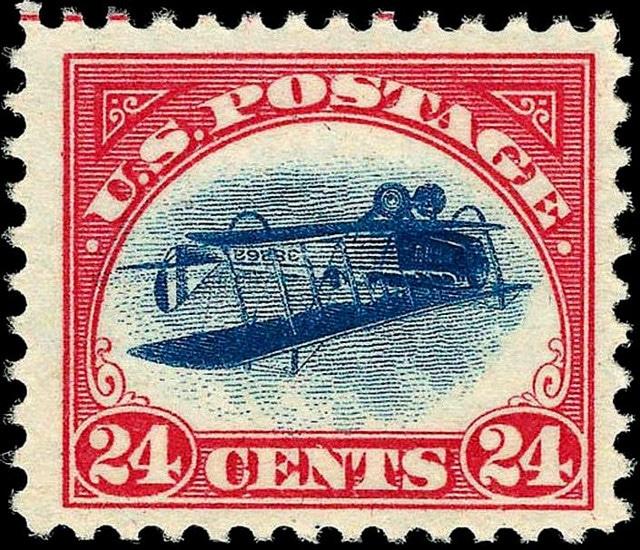 Inverted Jenny stamp USA
