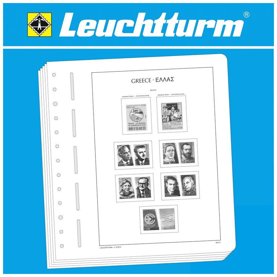 Leuchtturm Illustrated Album Pages Greece (1861-2020)