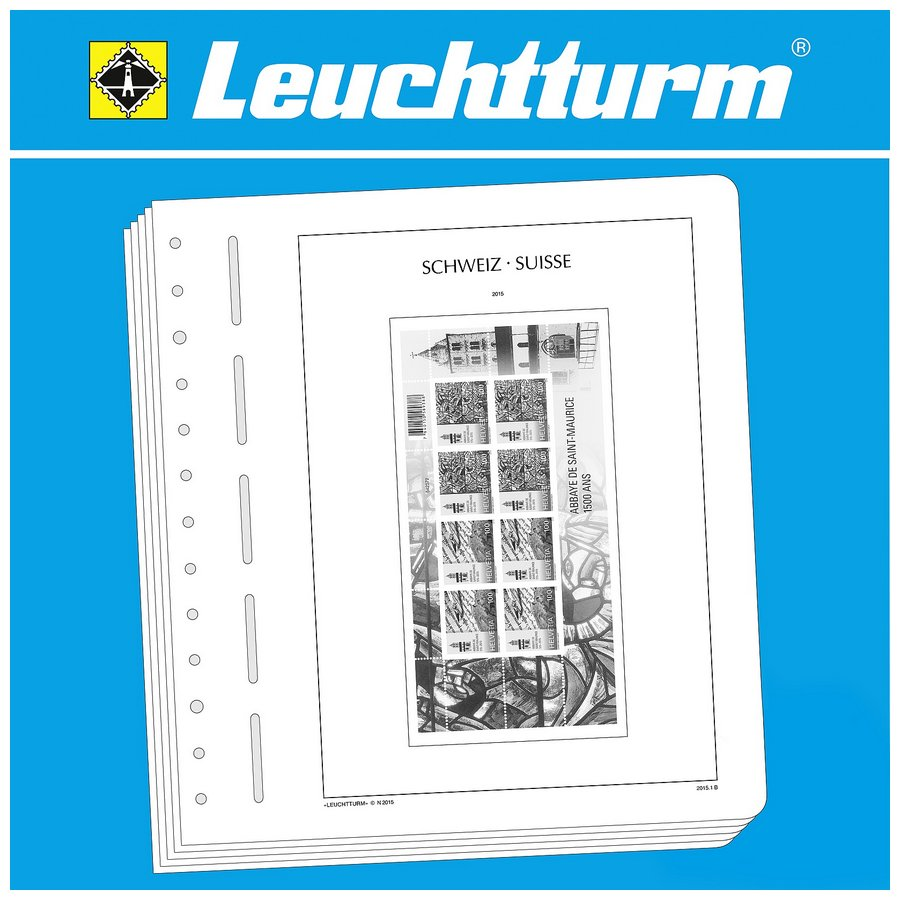 Leuchtturm Illustrated Album Pages Switzerland Miniature Sheets