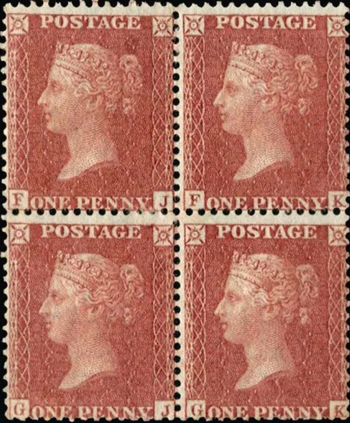 Plate 77 Penny Red UK