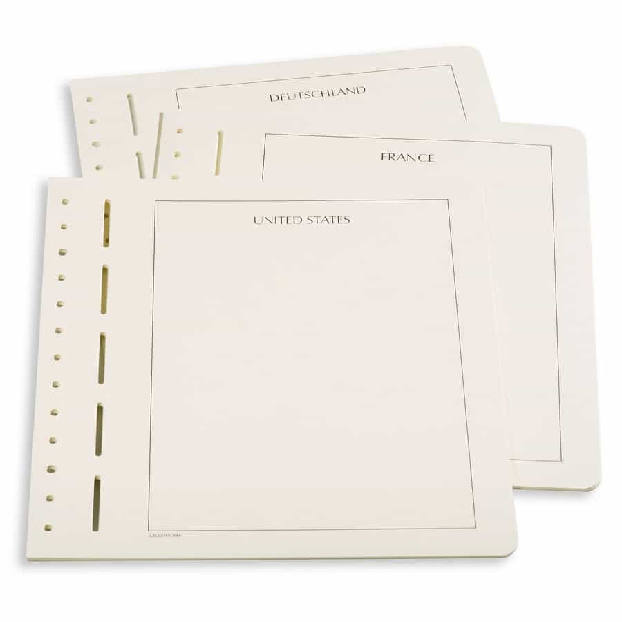 Leuchtturm blank album pages with country inscription