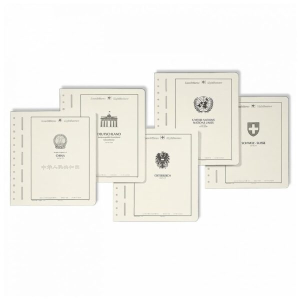 Leuchtturm title sheet with national emblem country
