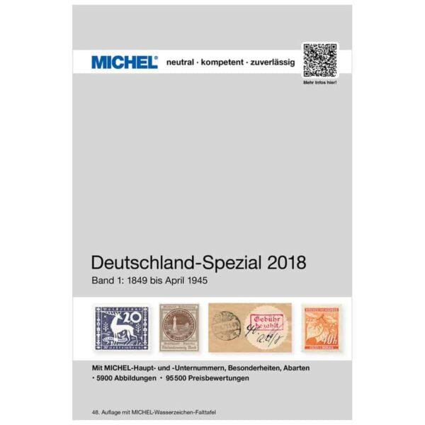 Michel Catalog Deutschland-Spezial 2018 Volume I Band I